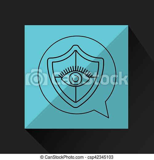 proteção, olho, escudo, vigilância - csp42345103