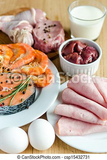 proteïne, dieet, ingredienten - csp15432731