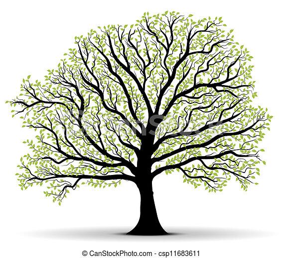 Árbol verde de protección ambiental - csp11683611