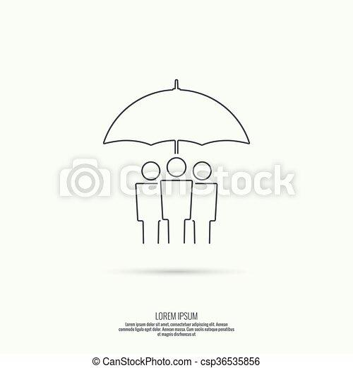 Grupo de personas bajo protección - csp36535856