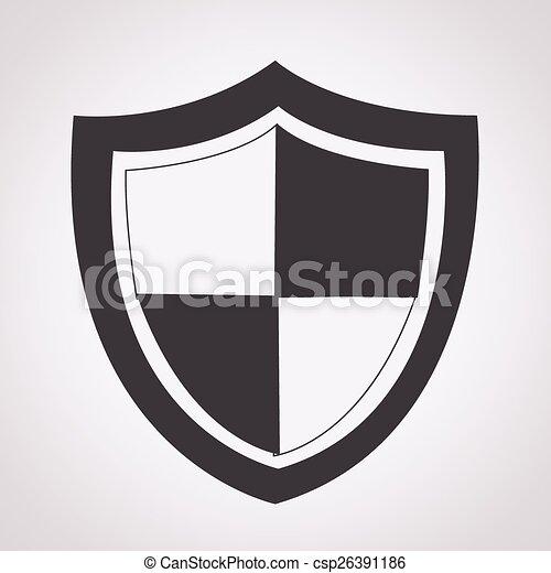 icono de protección - csp26391186