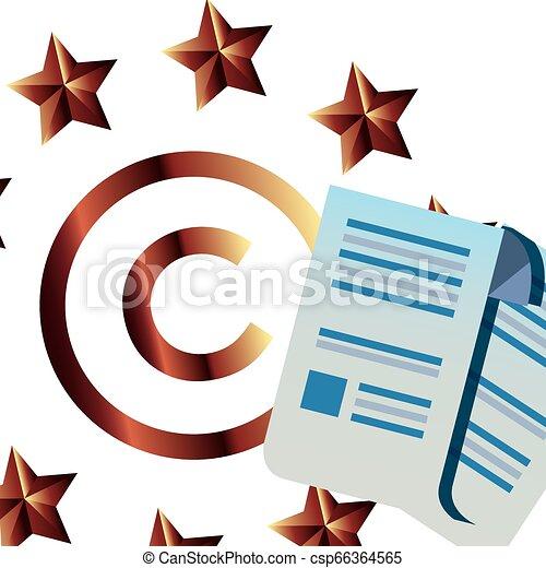 Protección de derechos de autor de intelectual - csp66364565