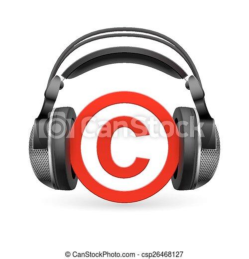 Protección de derechos de autor - csp26468127