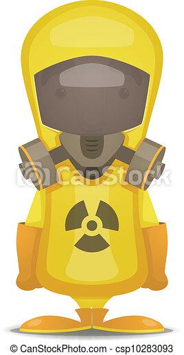 Traje de protección por radiación - csp10283093