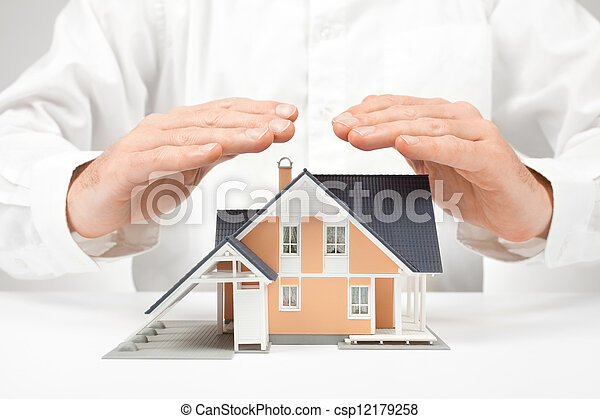 Protect house - insurance concept - csp12179258