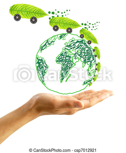 protect the environment concept - csp7012921
