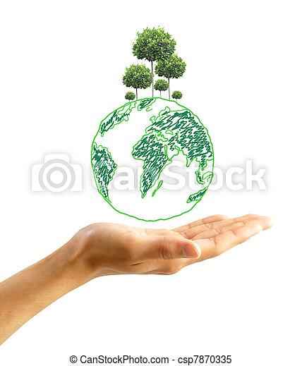 protect the environment concept - csp7870335