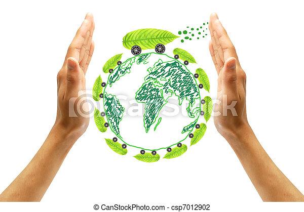protect the environment concept - csp7012902