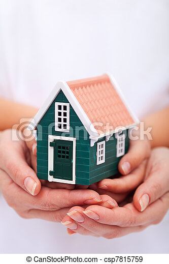Protect your home - insurance concept - csp7815759