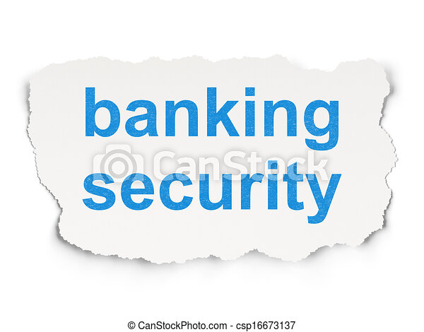 Protection concept: Banking Security on Paper background - csp16673137