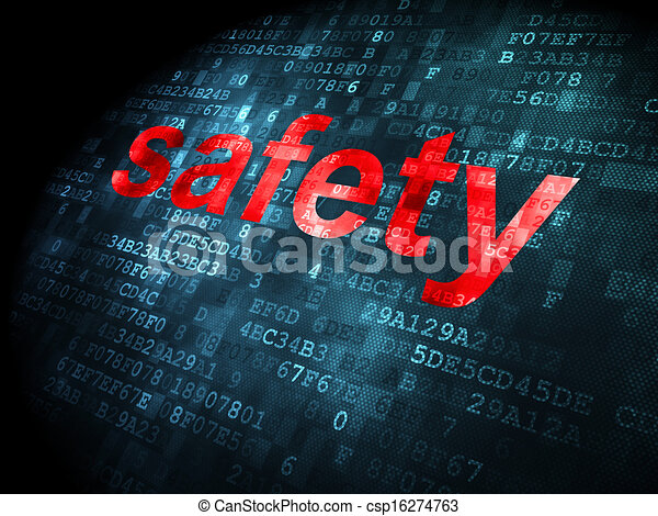 Protection concept: Safety on digital background - csp16274763
