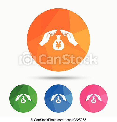 protection money sign icon hands protect cash protection rh canstockphoto co uk Protect Customers Clip Art Safe Clip Art
