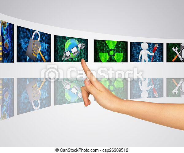 Protection of information. Virtual screens - csp26309512