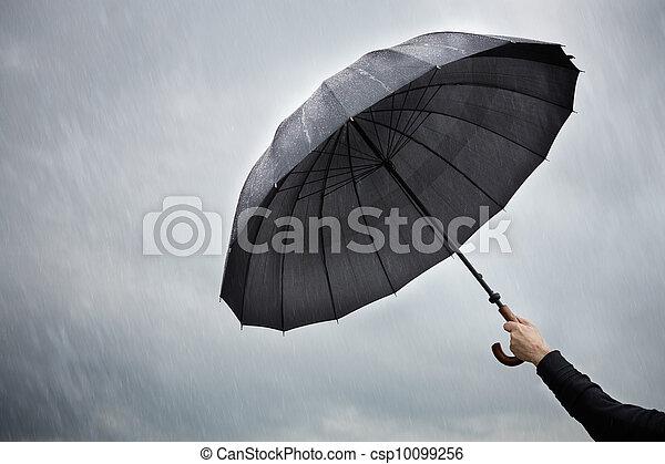 Umbrella (concepto de protección) - csp10099256