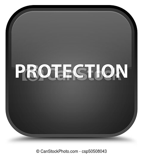 Protection special black square button - csp50508043