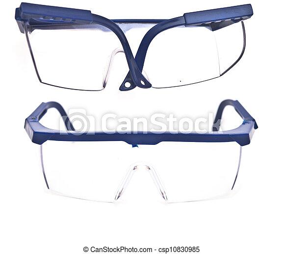 Protective eyeglasses isolated on white background - csp10830985