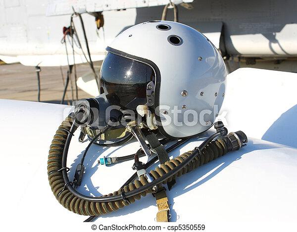 Protective helmet of the pilot - csp5350559