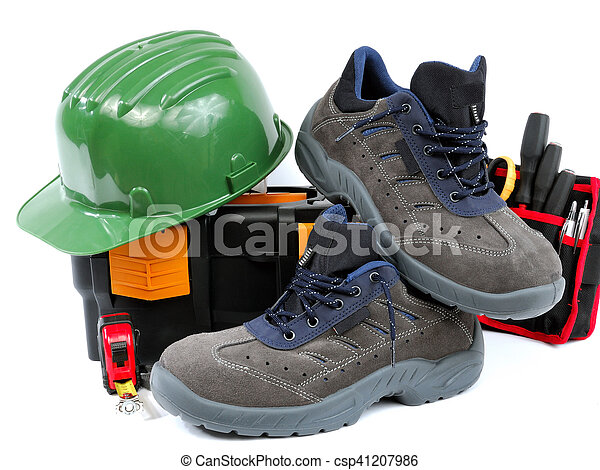 Protective work shoes for heavy work at