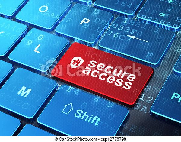 protector, acceso, computadora, seguridad, teclado, concept:, seguro - csp12778798