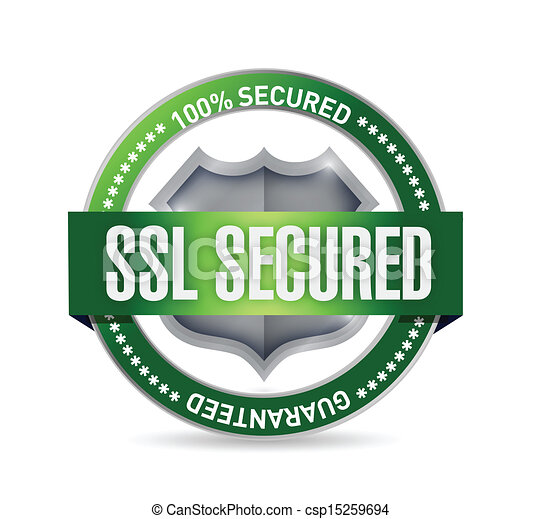 SSL asegurado sello o diseño de ilustración de escudos - csp15259694