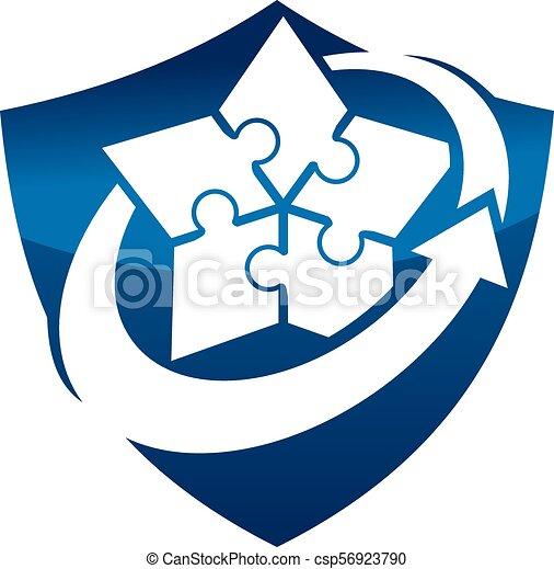 Escudo de estrategia de negocios - csp56923790