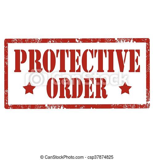 Señal de orden protectora - csp37874825