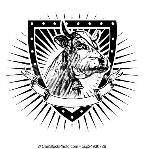 Escudo de vaca - csp24930726
