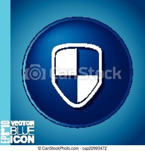 proteja, escudo, ícone - csp22993472