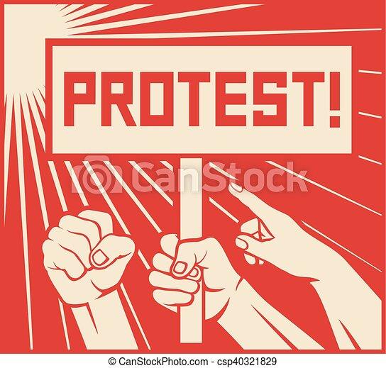 protest design - csp40321829
