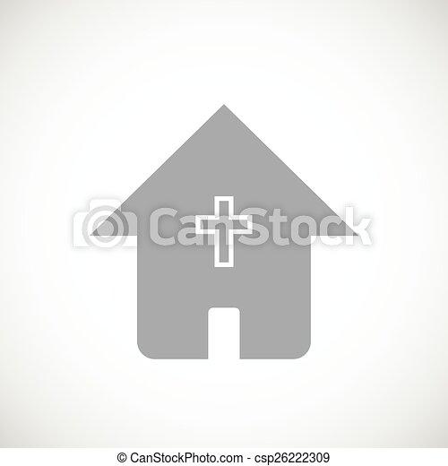 Protestant Church Black Icon Protestant Church Web Black Icon On A