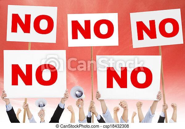 protested, 人们, 对, 环境, 人群, 污染 - csp18432308