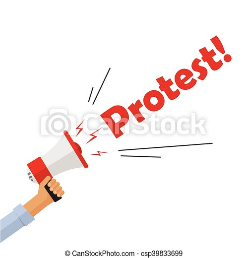 Admirable Protestor Hand Holding Bullhorn Shouting Protest Text Sign Angry Wiring Digital Resources Aeocykbiperorg