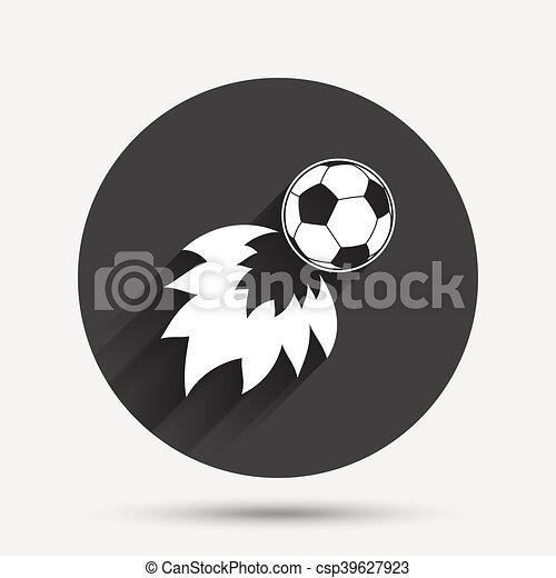 Fussball Feuerball Symbol Fussball Symbol Kreisen Sie