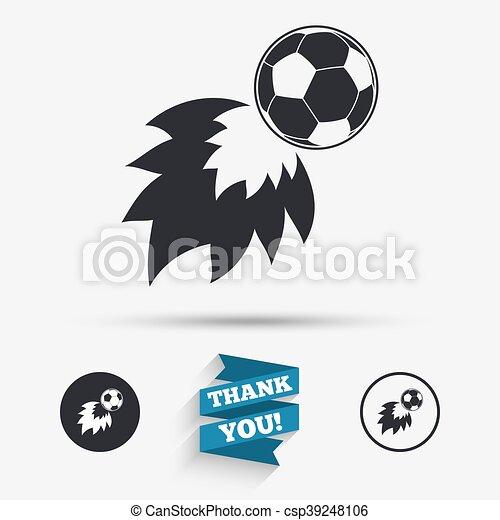 Protzen Symbol Fussball Zeichen Icon Fussball Feuerball