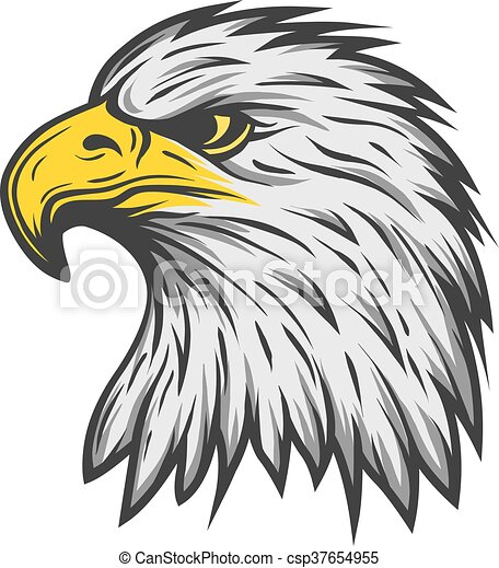proud eagle head color version proud eagle head color clipart rh canstockphoto co uk Eagle Clip Art Black and White bald eagle head clipart
