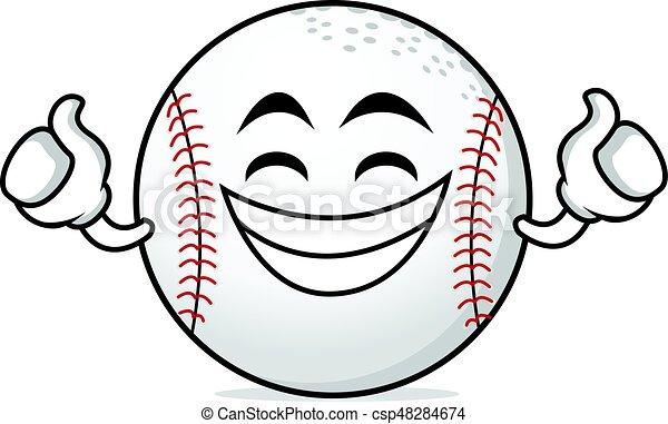 proud face baseball cartoon character vector illustration