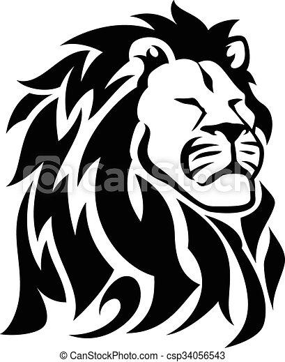 Proud Lion - One Color - Black - csp34056543