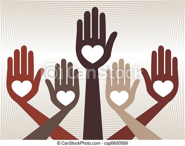 Ayudante diseño de manos unidas. - csp6600569