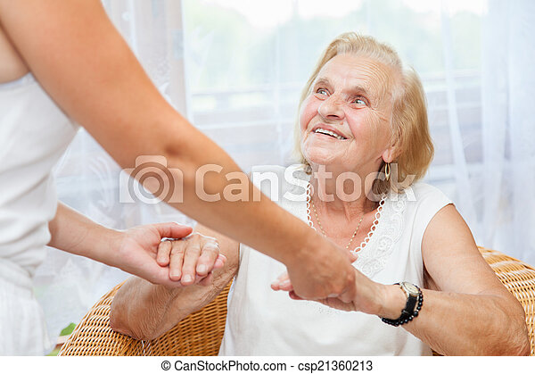 Providing care for elderly - csp21360213