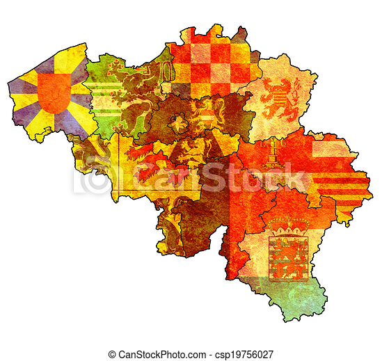 Provinces on map of belgium Provinces on administration map clip