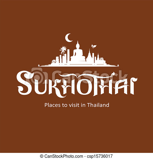 provincie, sukhothai, boodschap - csp15736017