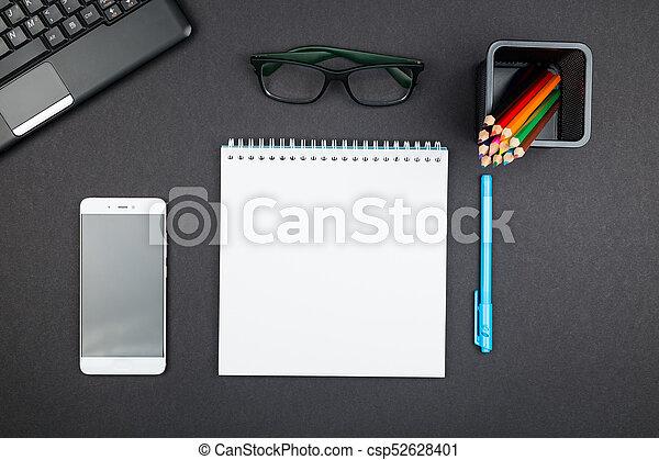 provviste, cima, ufficio, vista - csp52628401
