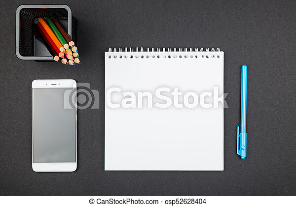 provviste, cima, ufficio, vista - csp52628404
