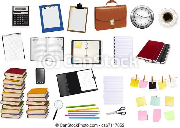 provviste, ufficio, affari - csp7117052