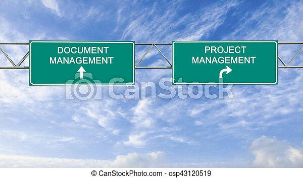 Camino de dirección a la dirección del proyecto - csp43120519