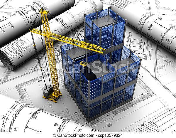 proyecto, edificio - csp10579324
