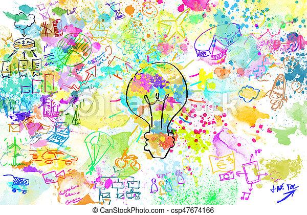 Proyecto de negocios creativo - csp47674166