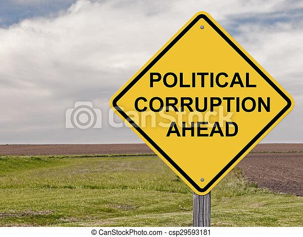 prudence, -, corruption, devant, politique - csp29593181
