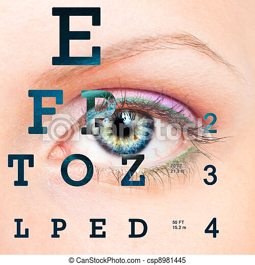 prueba, eye la carta, visión - csp8981445