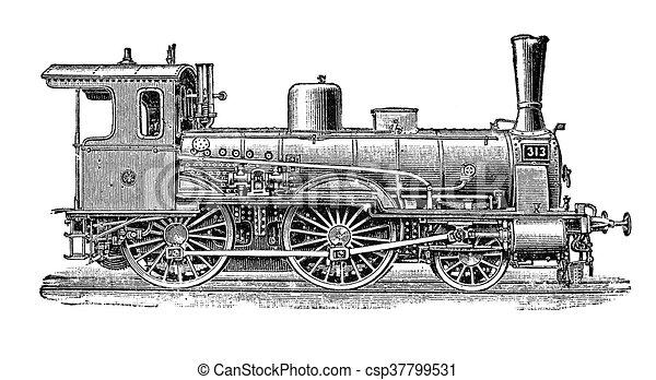 Prussian steam locomotive for passenger transport